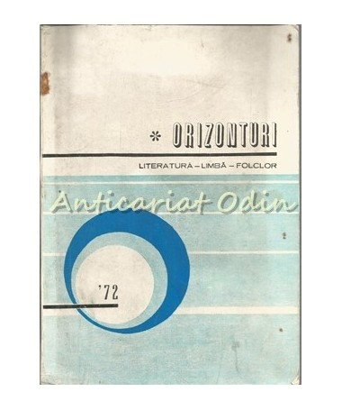 Orizonturi. Literatura-Limba-Folclor - Conf. Dr. I. Brezeanu, Prof. L. Bourceanu