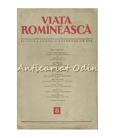 Revista Viata Romaneasca Nr. 8/1954 - Toma George Maiorescu, Aurel Mihale