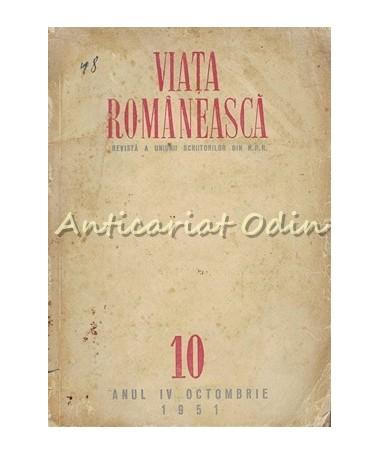 Revista Viata Romaneasca Nr. 10/1951- Mihai Beniuc, Veronica Porumbacu