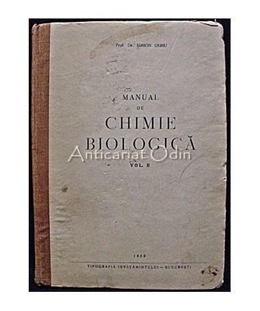Manual De Chimie Biologica - Simion Oeriu