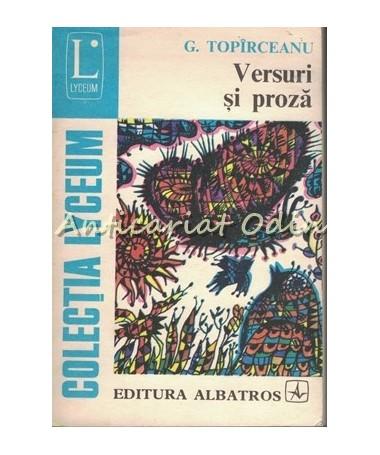 Versuri Si Proza - George Topirceanu