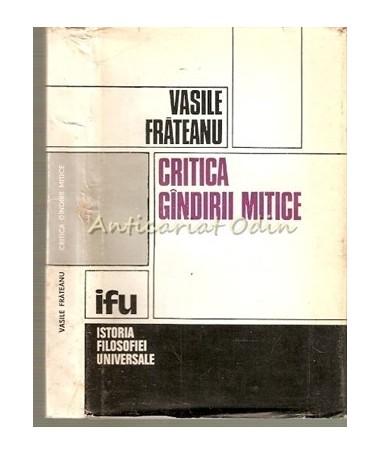 13030_Frateanu_Critica_Gindirii_Mitice